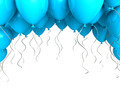Blue party ballons on white background - PhotoDune Item for Sale