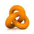 Orange infinity knot isolated on white background - PhotoDune Item for Sale
