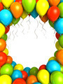 Party ballons on white background 3D illustration - PhotoDune Item for Sale