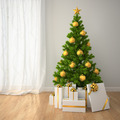 Christmas tree with gold decor and gift boxes  in classic style - PhotoDune Item for Sale