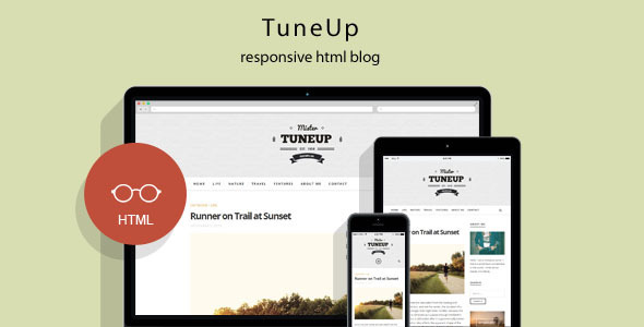 ThemeForest TuneUp Responsive HTML5 Blog Template 9936397