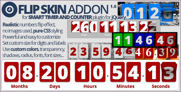 CodeCanyon Smart Timer And Counter Flip Skin Addon 10094738