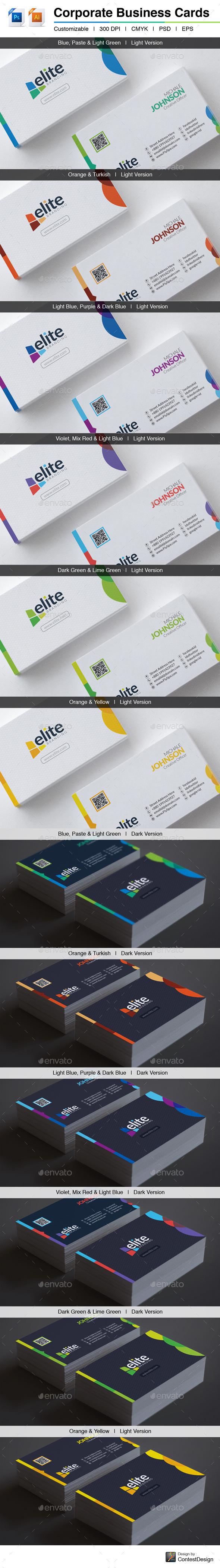 Elite – Corporate Business Cards (GraphicRiver – 10094825)
