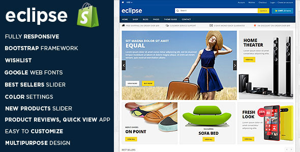 Eclipse Responsive Shopify Theme
