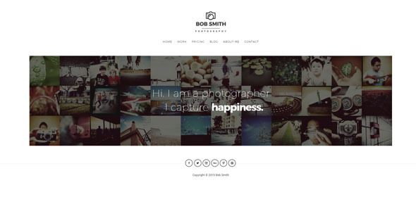 Photographer A WordPress Theme For Photographers