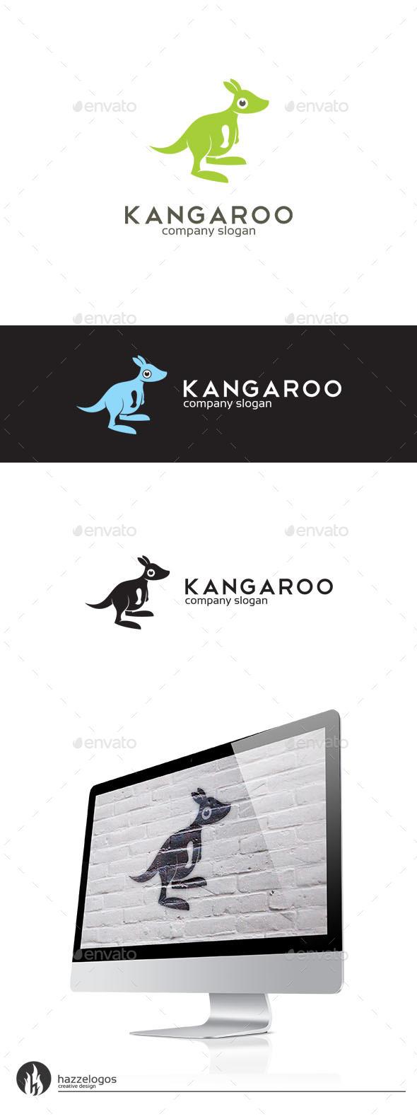 GraphicRiver Kangaroo Logo 10095514