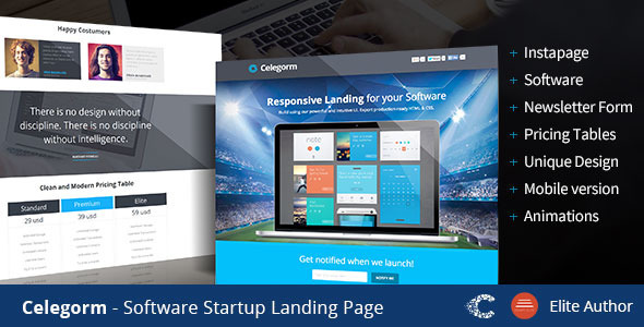 ThemeForest Celegorm Software App Landing Page 9526083