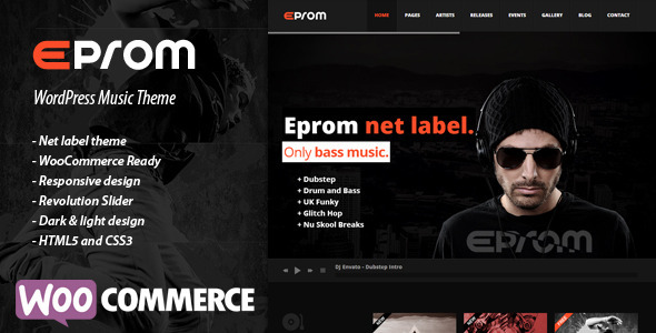 EPROM - WordPress Music Theme - Music and Bands Entertainment