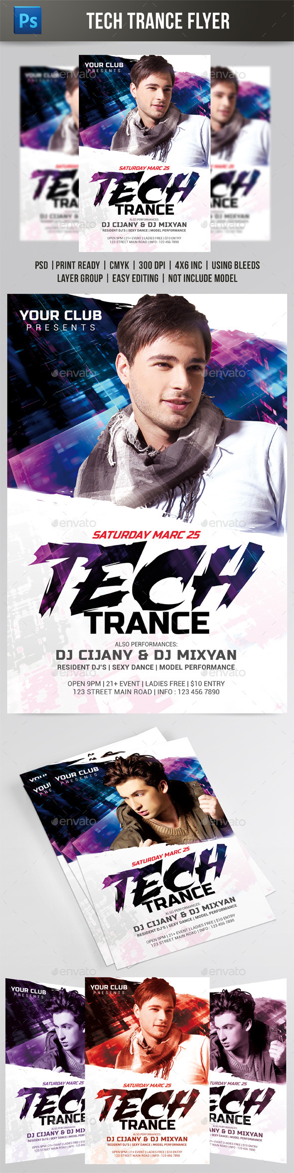Tech Trance Flyer