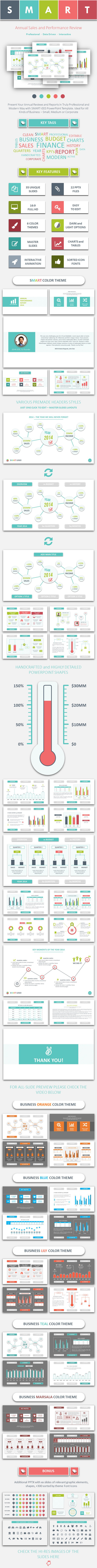 GraphicRiver SMART-003 Annual Review PowerPoint Template 10095613