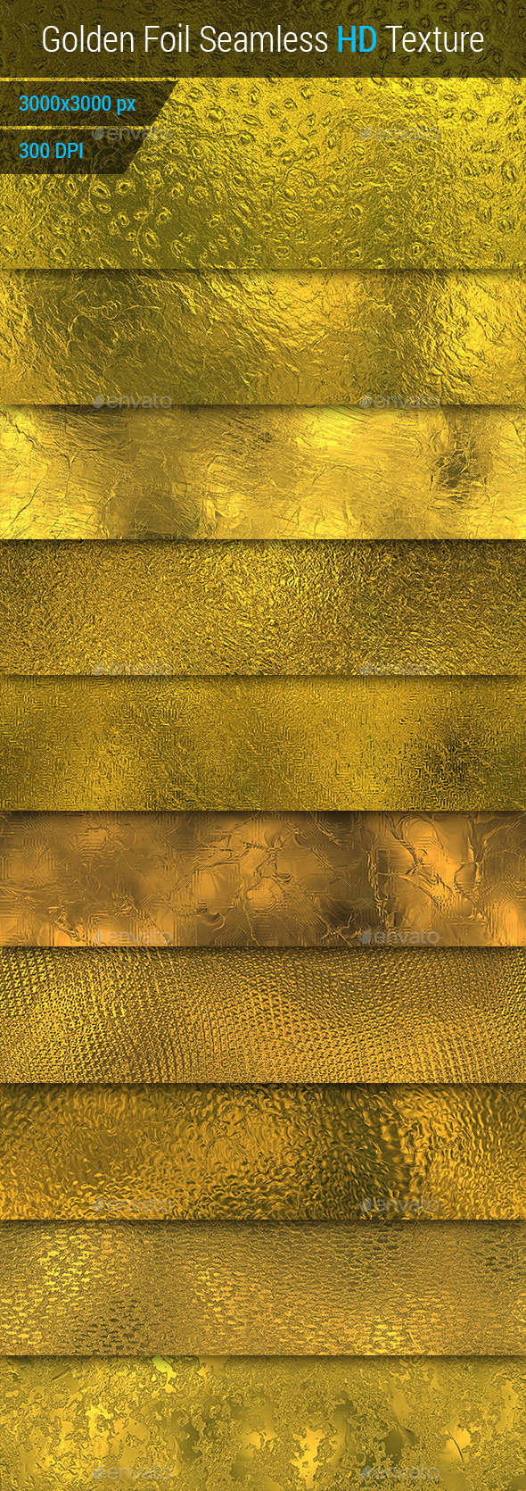 GraphicRiver Golden Foil Seamless HD Textures Set 10095711