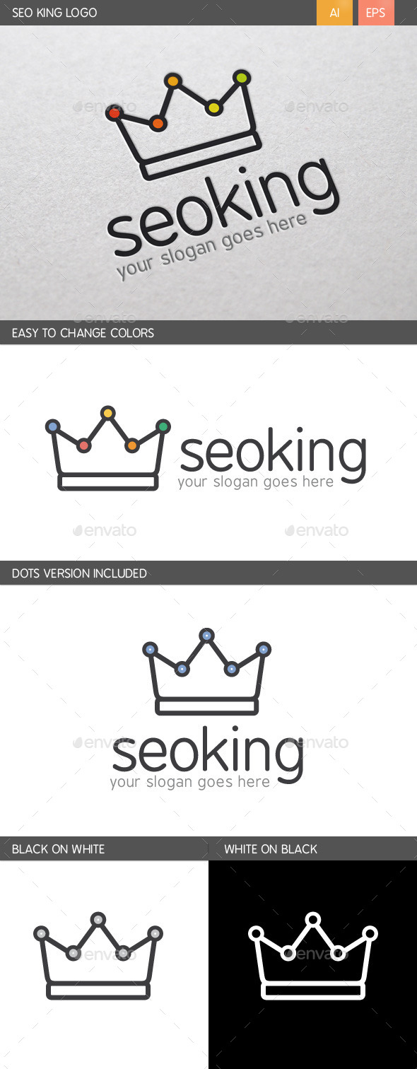 GraphicRiver SEO King Logo 10095923