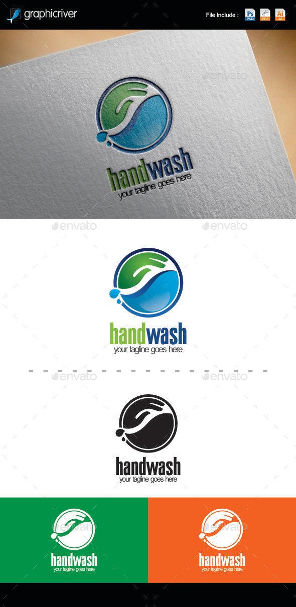 GraphicRiver Hand Wash Logo 10096751