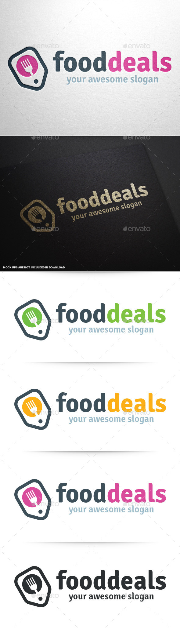Food Deals Logo Template