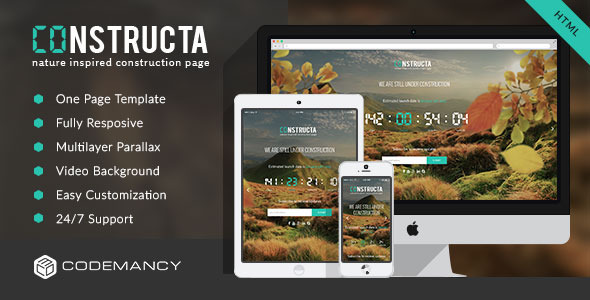 ThemeForest Constructa Multilayer Parallax Construction Page 10098032