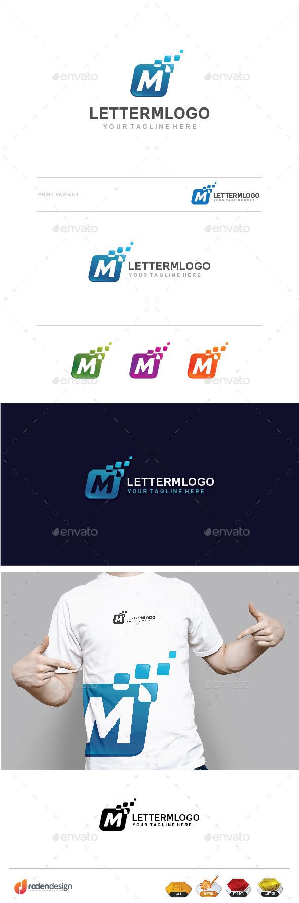 GraphicRiver M Letter Logo 10098240