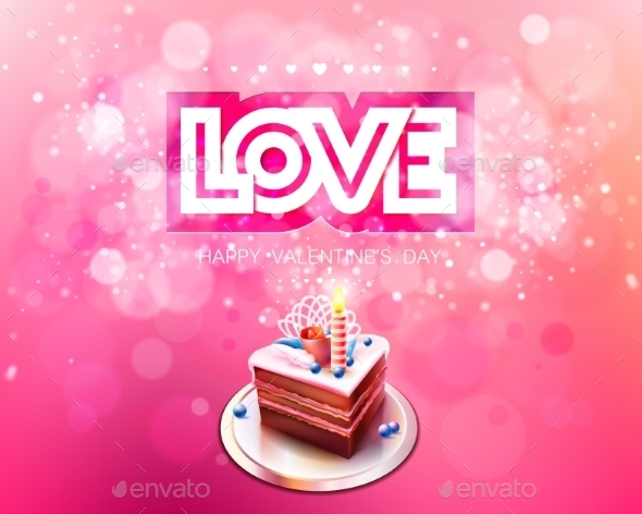 GraphicRiver Love and Cake Bokeh Background 10098295