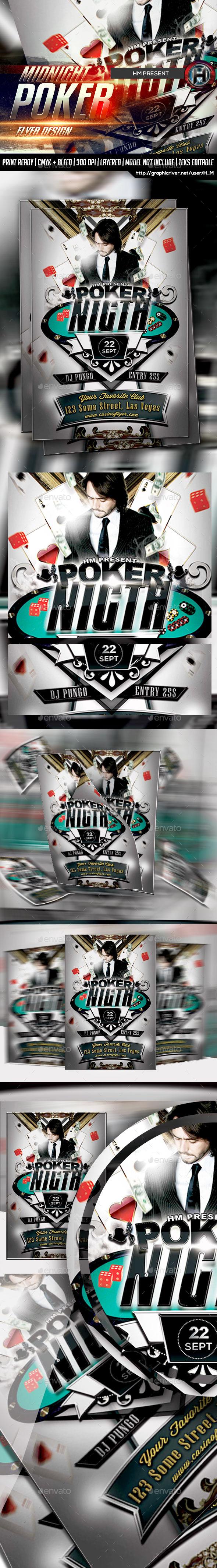 Poker Night Flyer Design