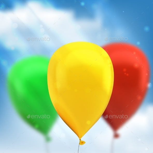GraphicRiver Balloons 10098357