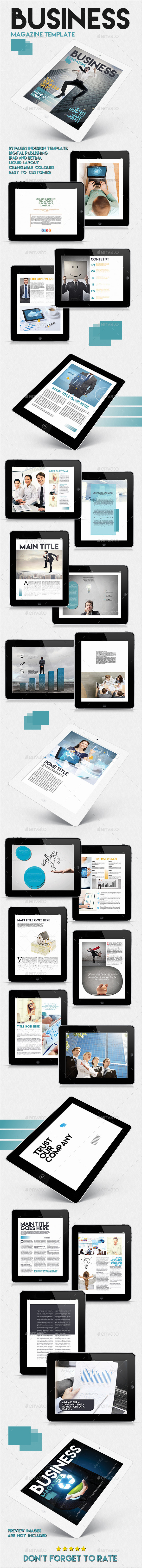 GraphicRiver Tablet Business Magazine Template Issue Two 10098426