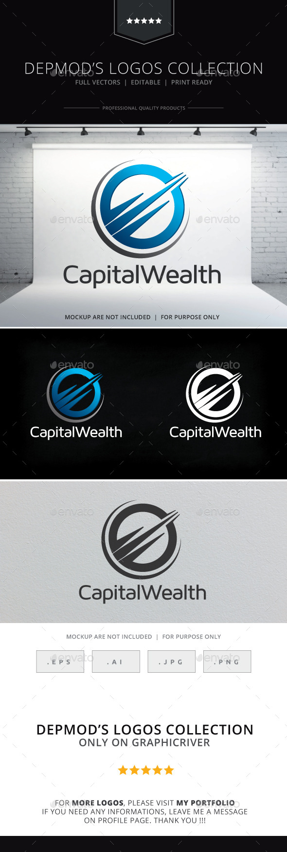 GraphicRiver Capital Weath Logo 10098432
