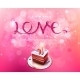 Love Pink Ribbon with Cake Background - GraphicRiver Item for Sale