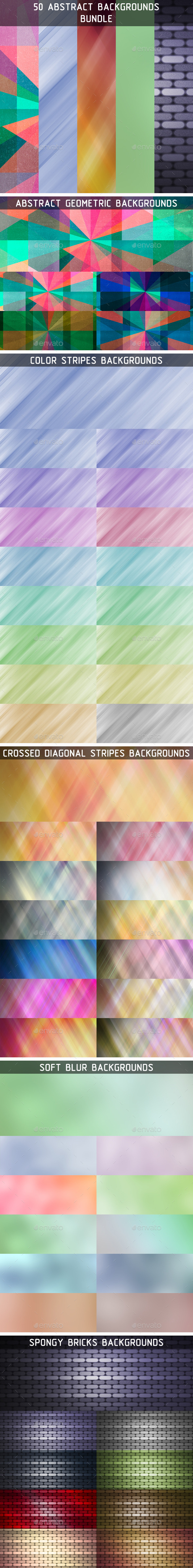 GraphicRiver 50 Abstract Backgrounds Bundle 10098752