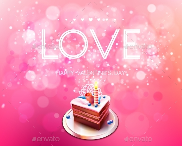 GraphicRiver Love and Cake Bokeh Background 10099163