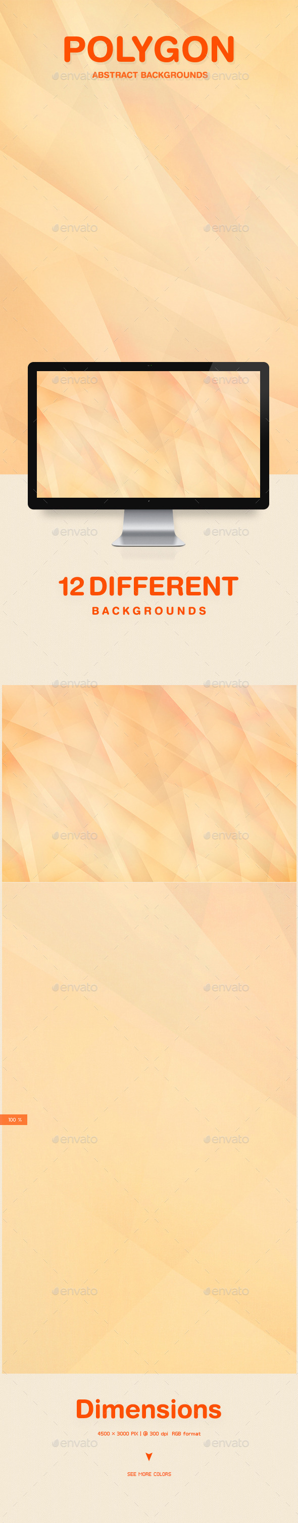 GraphicRiver Polygon Abstract Backgrounds 10099274