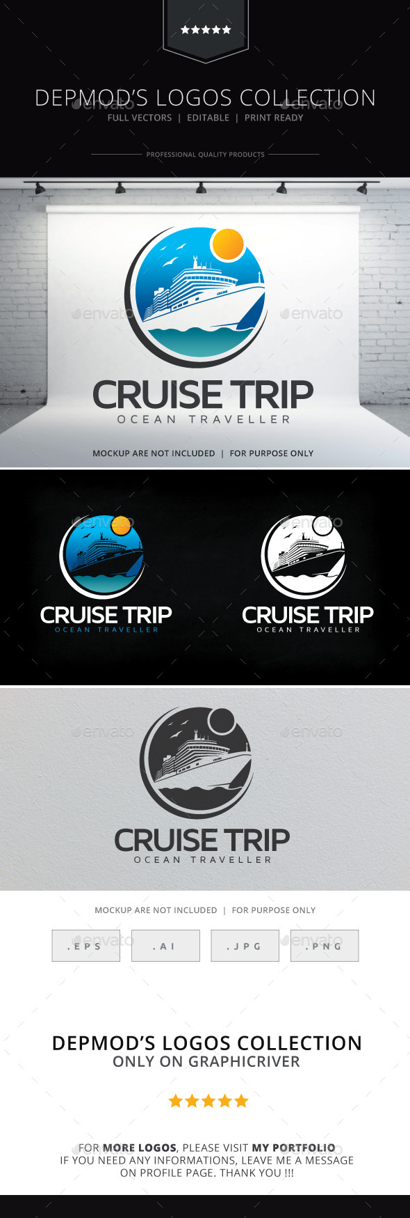 GraphicRiver Cruise Trip Logo 10099285