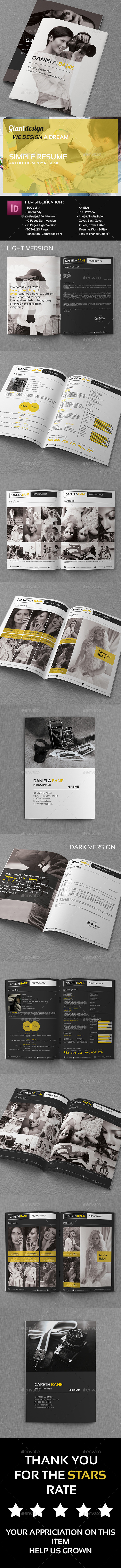 GraphicRiver Resume CV Portfolio Vol3 10099394