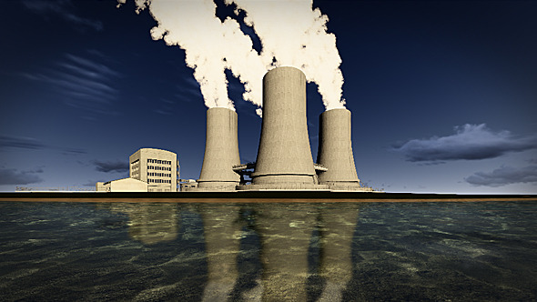VideoHive Nuclear Power Plant On The Coast 10099416