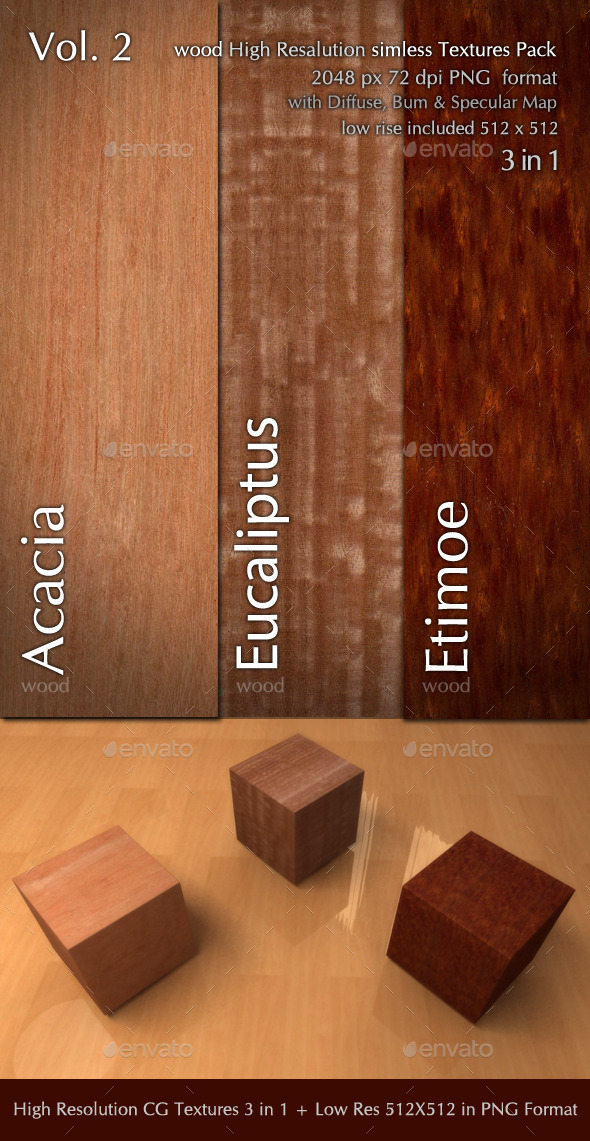 Wood CG Textures High Resulution 3in1 vol.2
