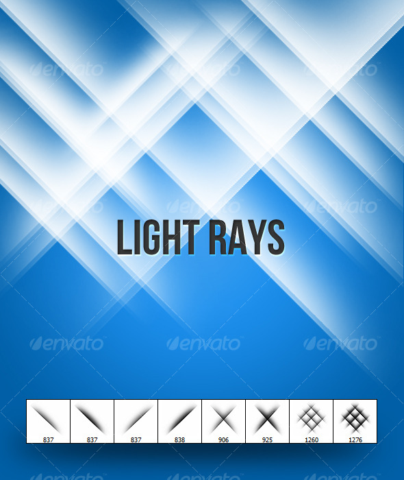 Light Rays - Brushes - Techno / Futuristic Brushes