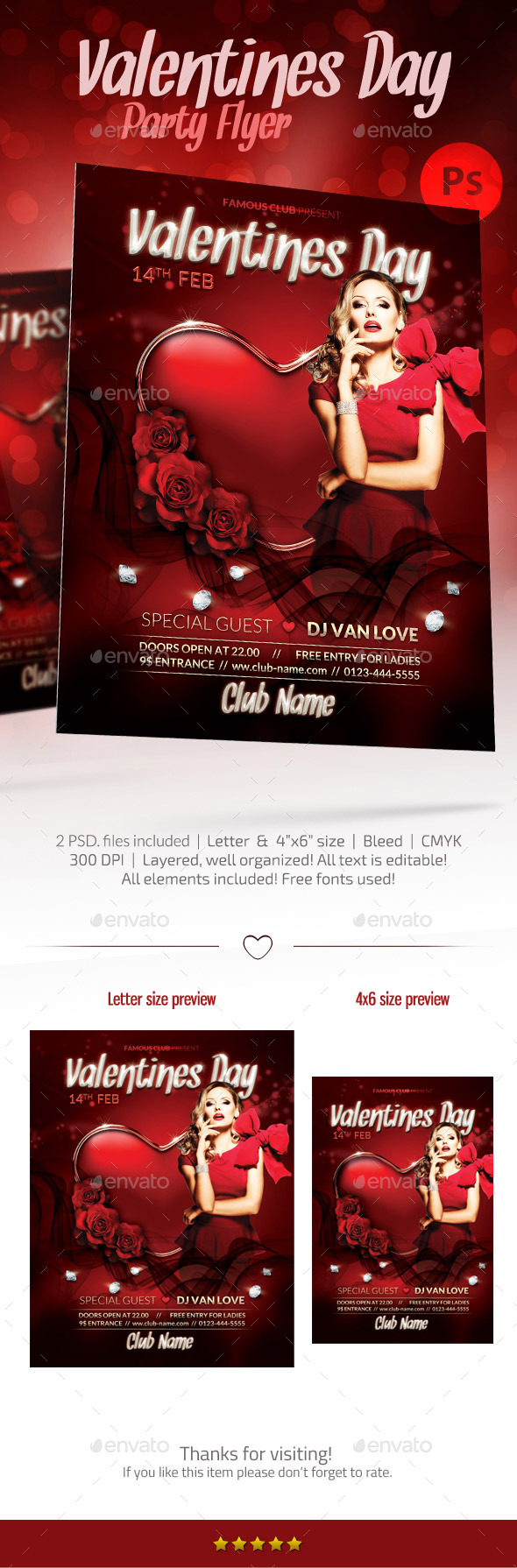 GraphicRiver Valentine's Day Party Flyer 10100327