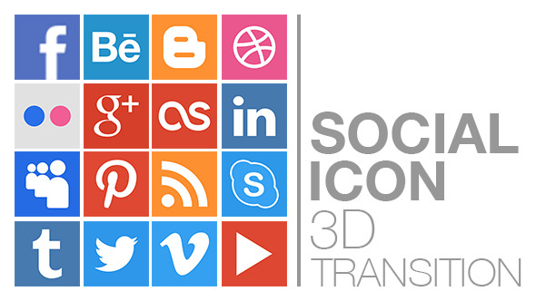 Social Icon 3D Transition