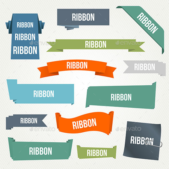 GraphicRiver Ribbon and Banner Set 10100378