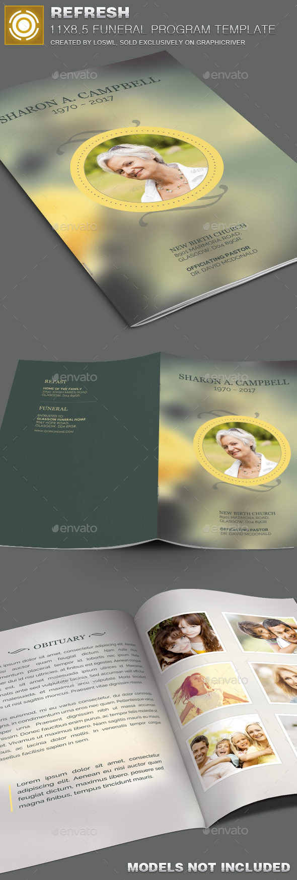GraphicRiver Refresh Funeral Program Template 10100503