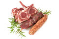 Lamb Cutlets Souvlaki and Kofta with Rosemary Isolated - PhotoDune Item for Sale