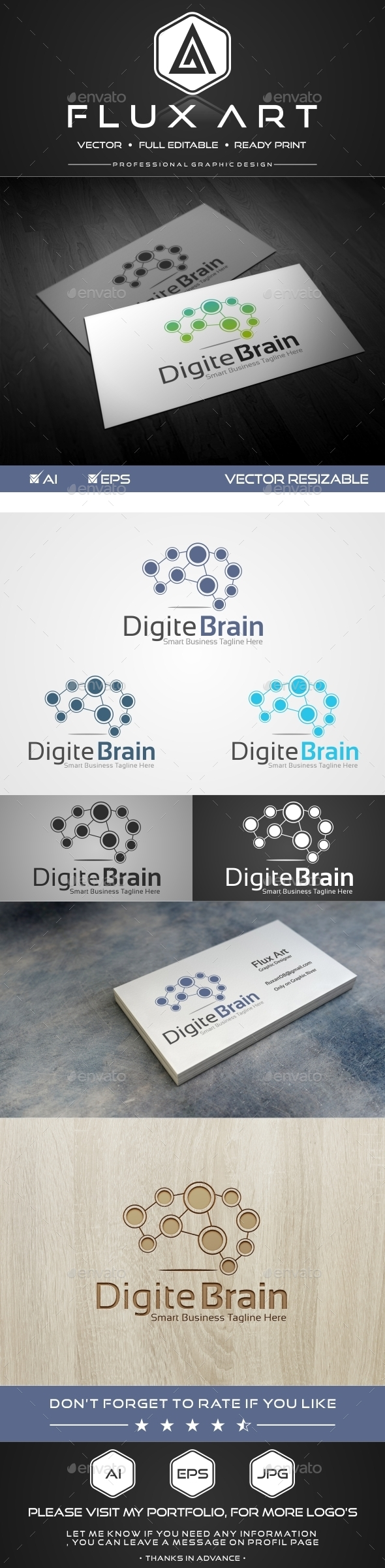 GraphicRiver Digital Brain Logo 10100993