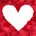 Roses petals forming heart love topic for wedding Valentine's and mothers day