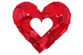 Heart from petals from roses love topic on Valentine's and mothers day