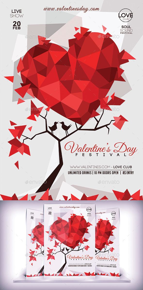 GraphicRiver Valentines Day Lovers Flyer 10100998