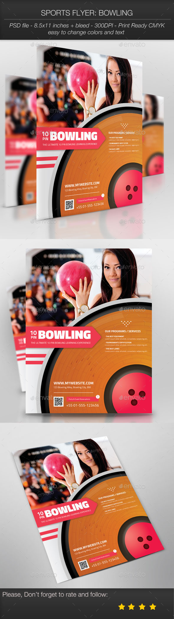 GraphicRiver Sports Flyer Bowling 10101020