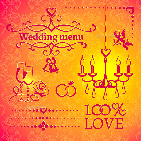 GraphicRiver Set of Wedding Design Elements 10087694