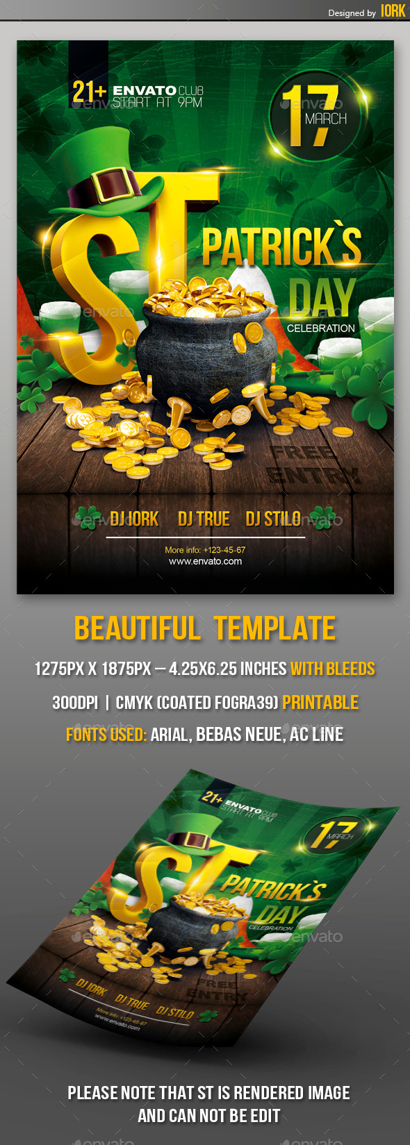 GraphicRiver St Patrick s Day Party Flyer 10101291
