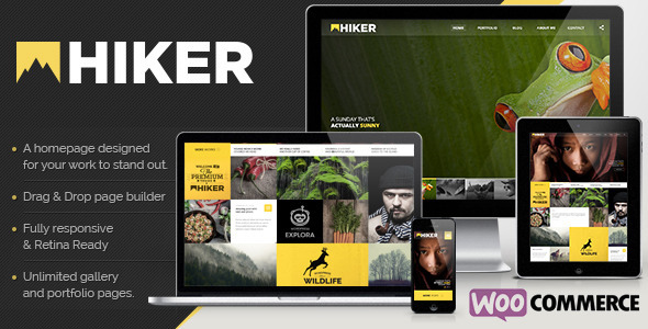 Hiker WordPress Photography Theme - Photography Creative