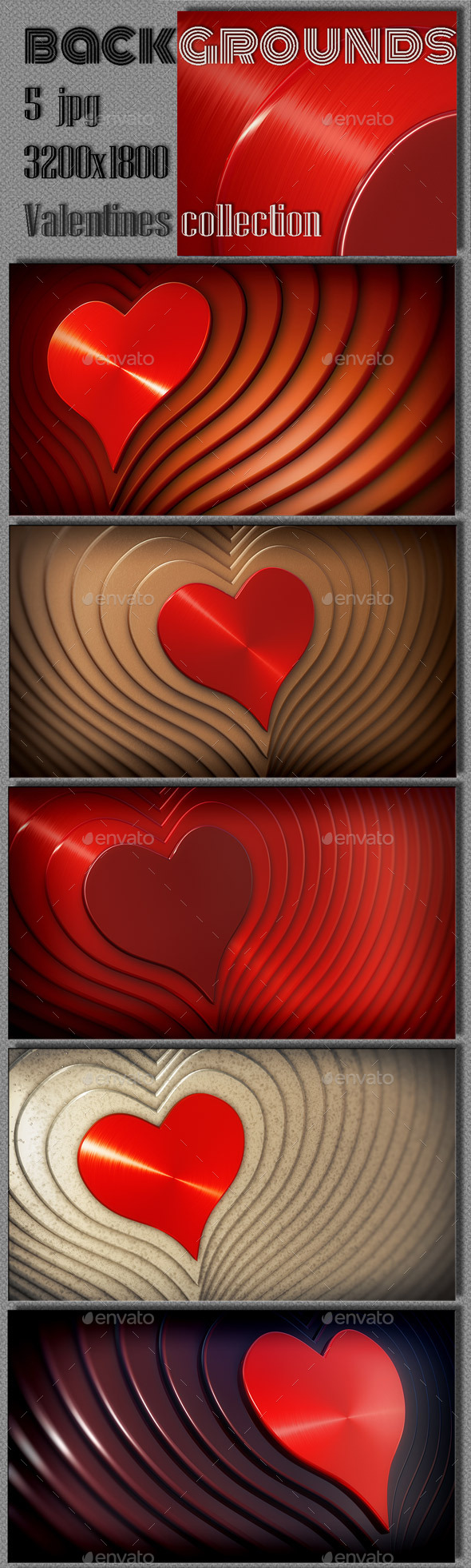 Valentine Abstract Collection