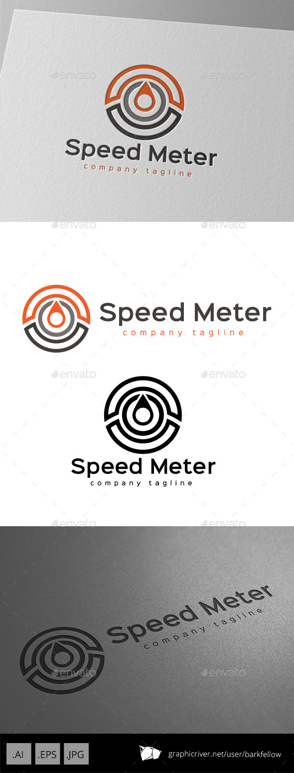 Speed Meter Indicator Logo