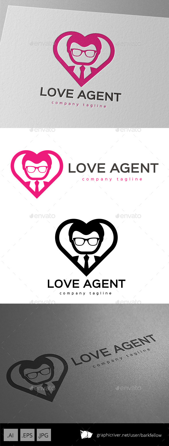 GraphicRiver Love Agent Logo 10102169